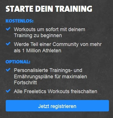 freeletics Workout Trainingsplan