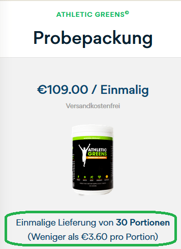 Athletic Greens Probepackung