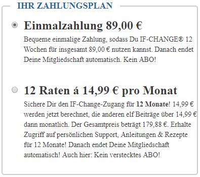 if-change Kosten