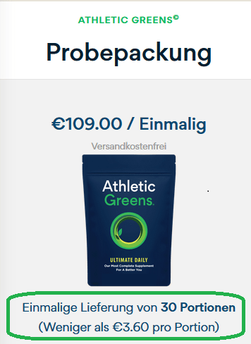 Athletic Greens Sample Pack