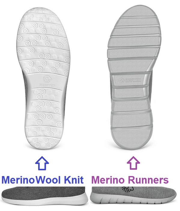 Giesswein Wool Knit vs merino runners sohle