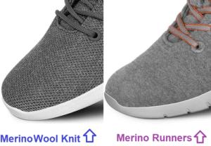 Difference merino wool knit or merino runners
