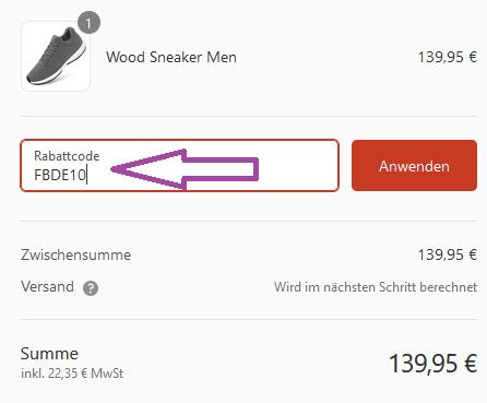 giesswein wood sneaker rabattcode