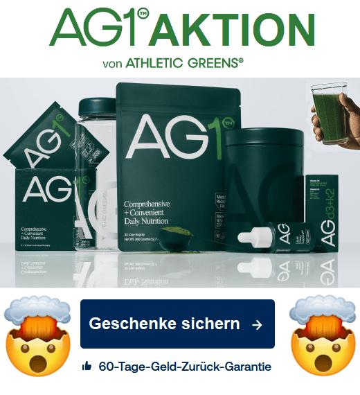 AG1 athletic greens angebot willkommens-geschenk