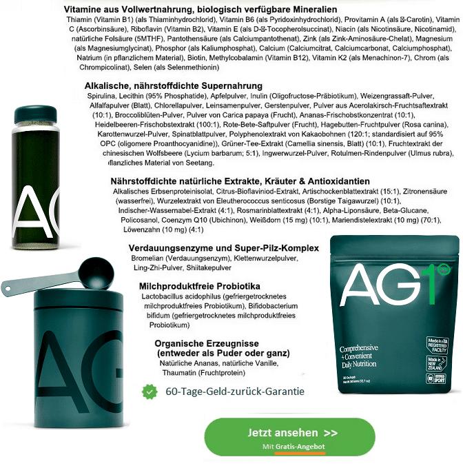 AG1 Inhaltsstoffe von Athletic Greens
