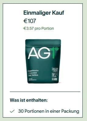 AG1 Kosten einmaliger Kauf